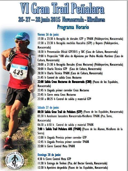 Gran Trail Peñalara 2015 Programa completo 26-28jun