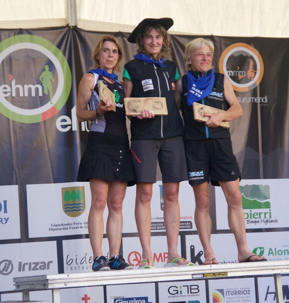 Ehunmilak Ultra trail 168k podio femenino
