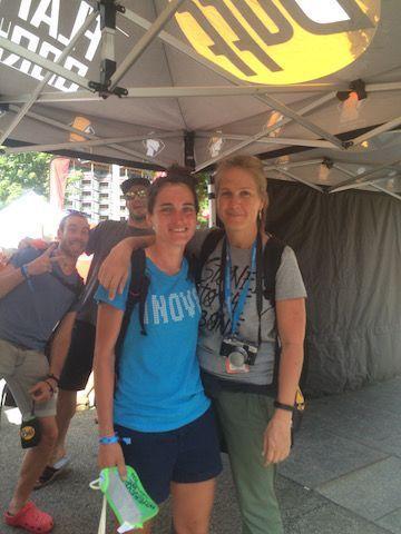 Con Judit en Chamonix este año tras terminar su TDS